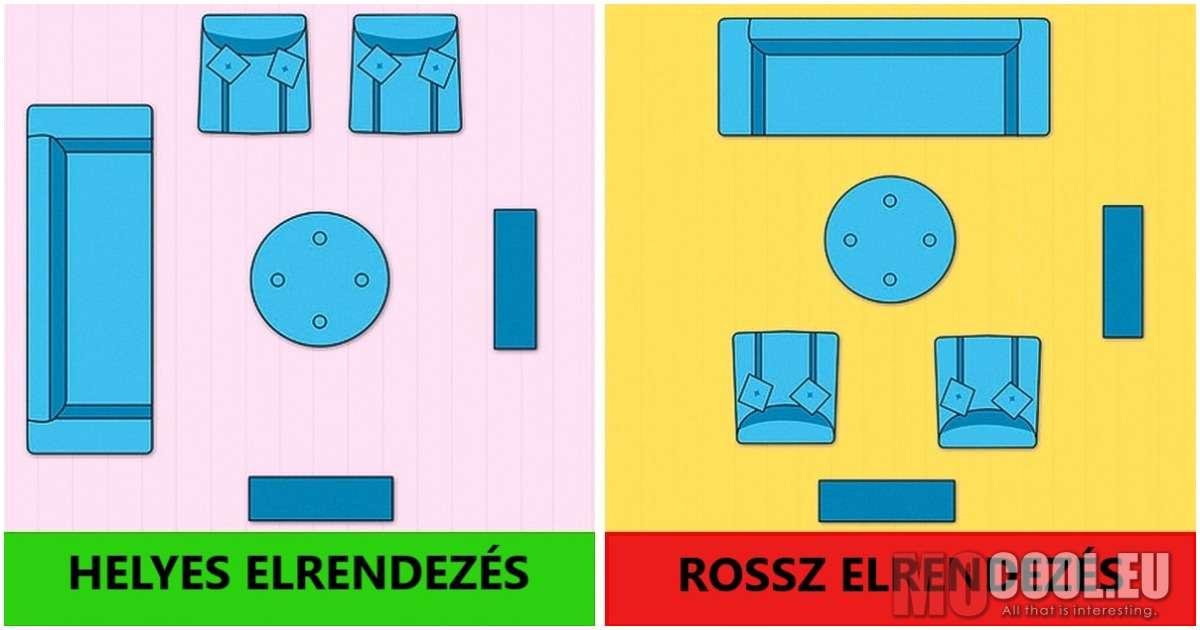 10 bútor elrendezési trükk, hogy a lehető legtöbbet kihozhasd a kis nappalidból