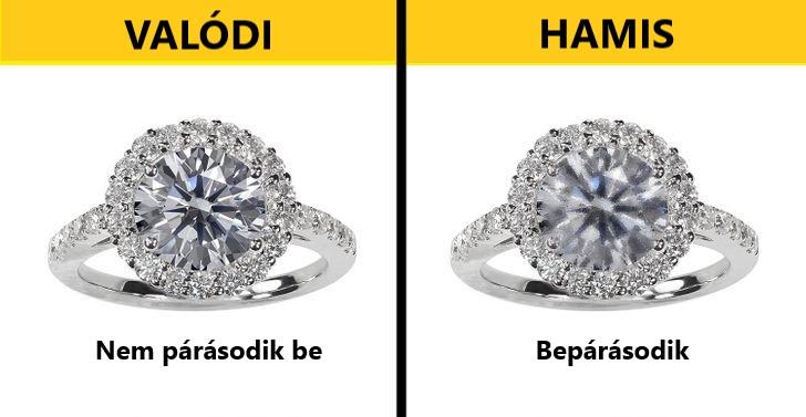 Hogyan állapítható meg, hogy a gyémánt valódi vagy hamis?