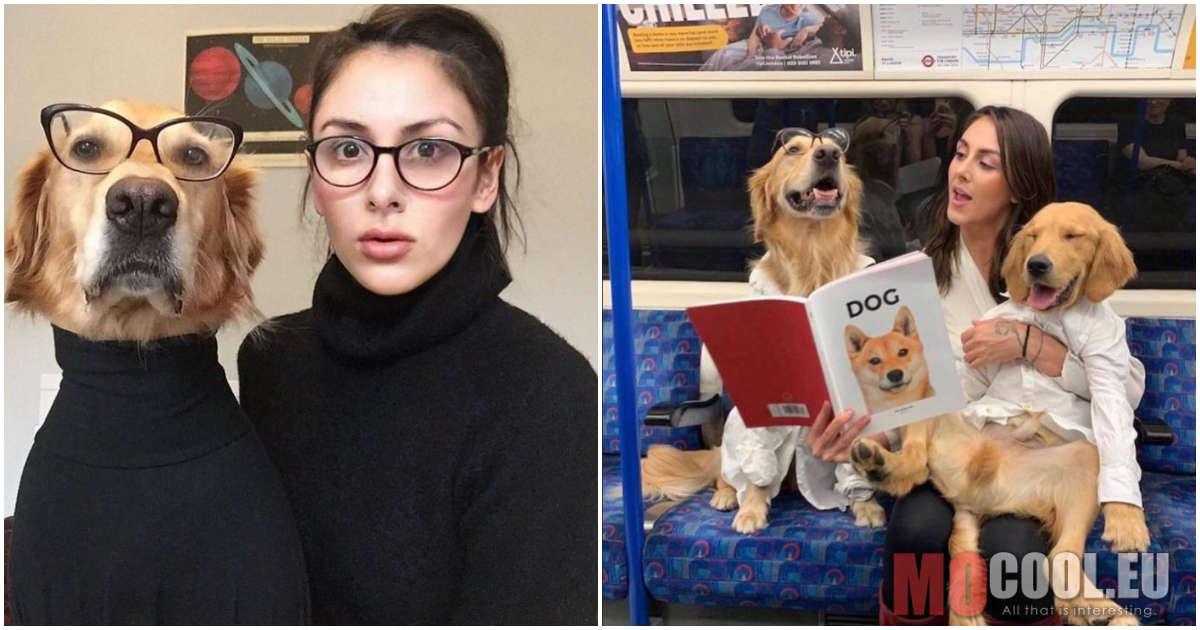 Egy fotós, aki vicces képek formájában mutatta be, milyen a kapcsolata a kutyáival