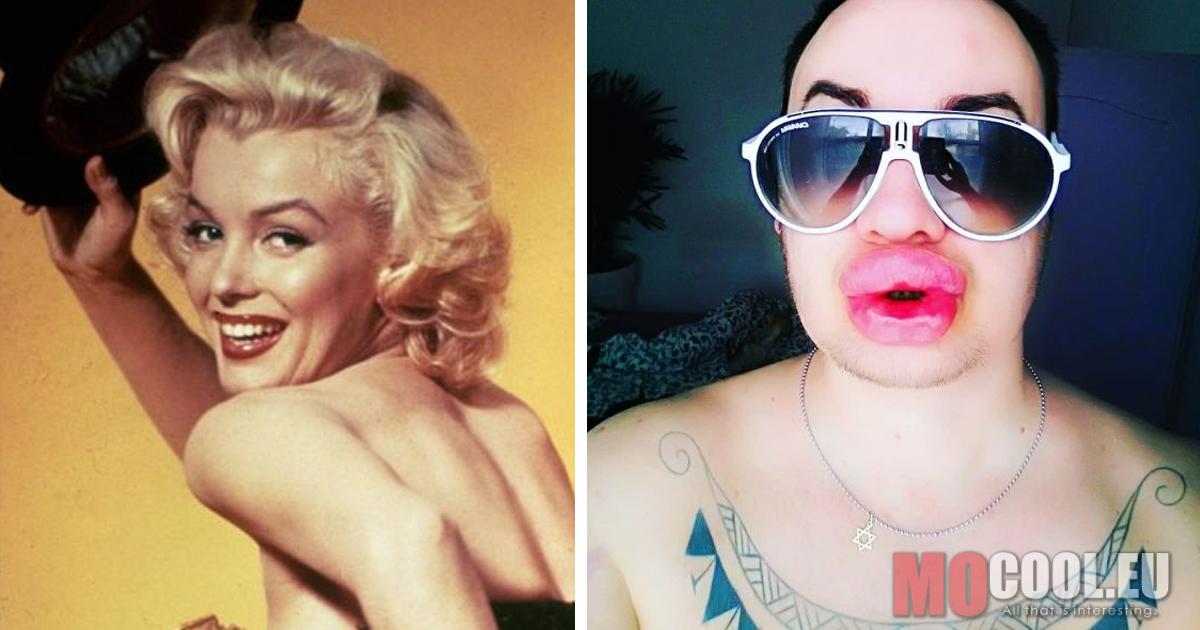 Ez a 35 éves férfi Marilyn Monroe akart lenni, ezért átműttette magát. Szerintetek sikerült?
